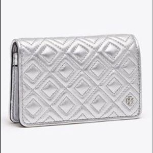 Tory Burch Fleming Metallic Slim Medium Wallet!!